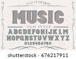 font handcrafted vector script...   Shutterstock .eps vector #676217911