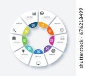 infographics template 9 options ... | Shutterstock .eps vector #676218499