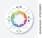 infographics template 8 options ...   Shutterstock .eps vector #676218601
