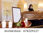 people and mourning concept  ... | Shutterstock . vector #676224127