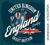 t shirt with england or britain ...   Shutterstock .eps vector #676225924