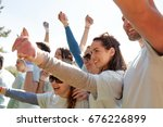 volunteering  charity and... | Shutterstock . vector #676226899