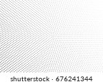 abstract halftone dotted... | Shutterstock .eps vector #676241344