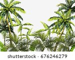 beautiful seamless vector... | Shutterstock .eps vector #676246279