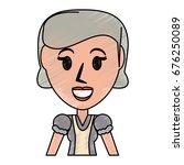 retro old woman cartoon | Shutterstock .eps vector #676250089