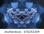 an abstract object that looks... | Shutterstock . vector #676252339