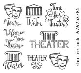 set of theater icons  logos and ... | Shutterstock .eps vector #676253785