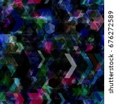 dark texture with colored... | Shutterstock .eps vector #676272589