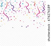 colorful tiny confetti and... | Shutterstock .eps vector #676276189