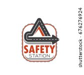road safety station icon of... | Shutterstock .eps vector #676276924