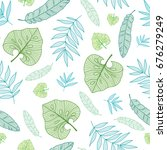 vector pastel tropical drawing... | Shutterstock .eps vector #676279249