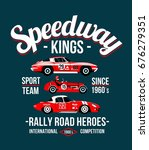 t shirt cool print with rally... | Shutterstock .eps vector #676279351