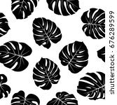tropical jungle leaves vector... | Shutterstock .eps vector #676289599