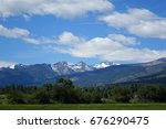 the rugged bitterroot mountains ... | Shutterstock . vector #676290475