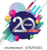 20 years anniversary logo with... | Shutterstock .eps vector #676291021
