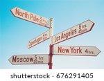 directional signs | Shutterstock . vector #676291405