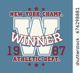 new york sport wear typography... | Shutterstock . vector #676298881