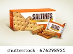 cheese saltines package design  ... | Shutterstock .eps vector #676298935