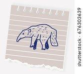 anteater doodle | Shutterstock .eps vector #676303639