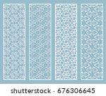 decorative geometric line... | Shutterstock .eps vector #676306645
