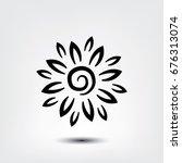 flower icon  flower vector icon ... | Shutterstock .eps vector #676313074