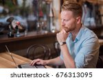 young entrepreneur searching... | Shutterstock . vector #676313095