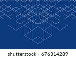vector abstract boxes... | Shutterstock .eps vector #676314289