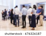 abstract blur group of people... | Shutterstock . vector #676326187