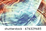 fantastic smoke in soft colors. ... | Shutterstock . vector #676329685
