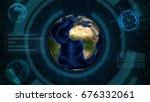 abstract technology concept... | Shutterstock . vector #676332061