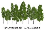 group of trees isolated on... | Shutterstock . vector #676333555