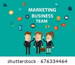 marketing business team. social ... | Shutterstock .eps vector #676334464