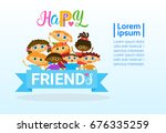 happy friendship day greeting... | Shutterstock .eps vector #676335259