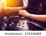 overdose   drug addiction... | Shutterstock . vector #676336885