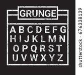 alphabet grunge letters... | Shutterstock .eps vector #676338139