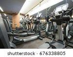 fitness club in luxury hotel... | Shutterstock . vector #676338805