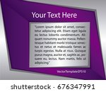 template silver  purple and... | Shutterstock .eps vector #676347991