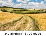 beautiful rural summer...   Shutterstock . vector #676348801