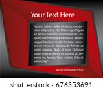 template red  black and white... | Shutterstock .eps vector #676353691