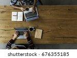 team working startup business... | Shutterstock . vector #676355185