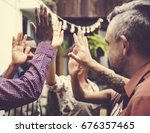 community support together... | Shutterstock . vector #676357465