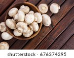 fresh white mushrooms...   Shutterstock . vector #676374295