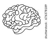 brain line art | Shutterstock .eps vector #676378189