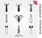 tie icons   Shutterstock .eps vector #676389361