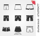 shorts vector icon | Shutterstock .eps vector #676390477