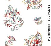 hand drawn floral flower... | Shutterstock . vector #676402951