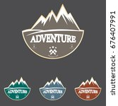 mountain explorer adventure... | Shutterstock .eps vector #676407991