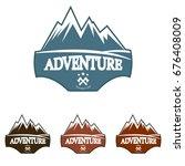 mountain explorer adventure... | Shutterstock .eps vector #676408009