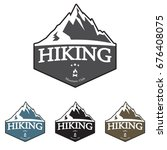 mountain explorer adventure... | Shutterstock .eps vector #676408075