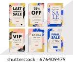 modern promotion web banner for ...   Shutterstock .eps vector #676409479
